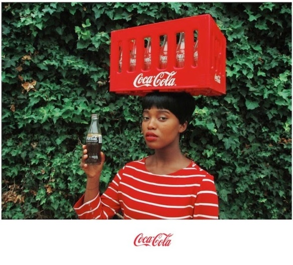 Pin-up - Black Coca Cola Series, Edition: 2/10, Fuji crystal archival print. Dibond mounted, 70 x 81cm.